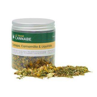 tisana canapa camomilla liquirizia rilassante cannabe cannabis light italia 324x324 - Herbal Mix - Canapa Camomilla Liquirizia - 30gr - Cannabe tisane