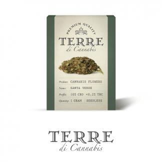 9 TERRE cannabis SANTA 1gram LR 324x324 - Riserva Opulenta - 1gr - Terre di Cannabis infiorescenze, cannabis-light
