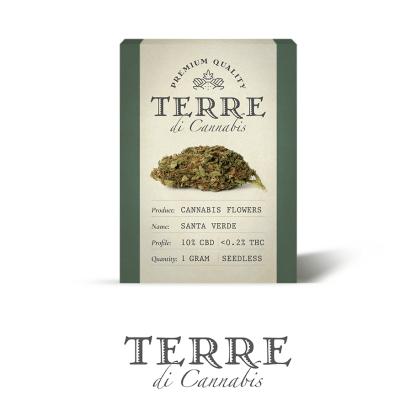 9 TERRE cannabis SANTA 1gram LR 416x416 - Santa Verde - 1gr - by Terre di Cannabis novita, infiorescenze, cannabis-light