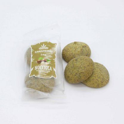 Canafrolli nocciola Foto1 416x416 - Biscotti Canafrolli - nocciola e canapa alimenti, alimentari