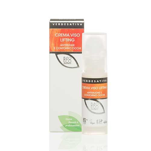 crema viso lifting antirughe contorno occhi - Crema Viso Lifting Bioattiva - 30ml - Verdesativa cura-del-viso, cosmesi-alla-canapa