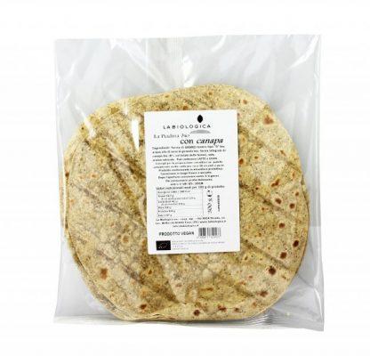 piadina canapa bio 416x400 - Piadina Bio con Canapa - 300g - La Biologica alimenti, alimentari