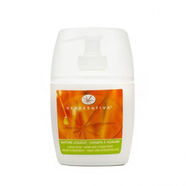 sapone liquido canapa e agrumi 1 600x600 - Sapone Liquido Canapa e Agrumi - 250ml - Verdesativa detergenti-e-saponi, cosmesi-alla-canapa