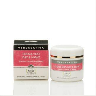 crema day night verdesativa 324x324 - Crema Viso Bioattiva Day & Night - 50ml - Verdesativa prodotti-in-evidenza, cura-del-viso, cosmesi-e-salute