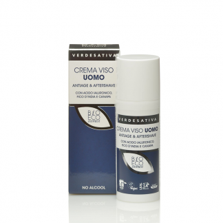 crema viso uomo antiage aftershave verdesativa 324x324 - Crema Viso Uomo Antiage e Afrershave - 50ml - Verdesativa cura-del-viso, cosmesi-e-salute