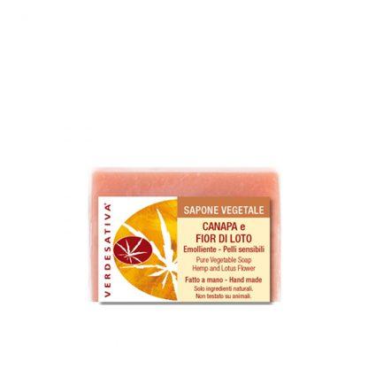 sapone vegetale canapa e fiore di loto 416x416 - Sapone Canapa e Fiore di Loto - 100g - Verdesativa detergenti-e-saponi, cosmesi-e-salute