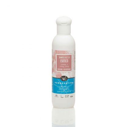 shampoo doccia esotico ylang ylang canapa verdesativa cosmesi naturale e certificata 416x416 - Doccia Shampoo Ylang Ylang - 200ml - Verdesativa detergenti-e-saponi, cosmesi-alla-canapa