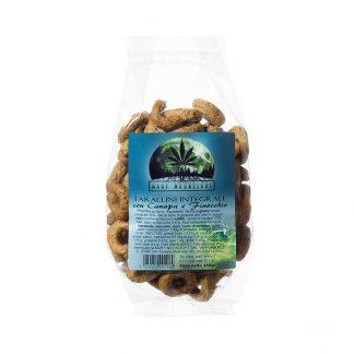 Tarallini integrali canapa e finocchio 324x324 - Tarallini Integrali Canapa e Finocchio - 250g offerte, alimenti-alla-canapa, prodotti-alimentari-alla-canapa