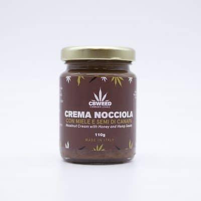 crema nocciola web 400x400 - Crema Bio Nocciola Miele e Canapa - CBweed alimenti-alla-canapa, prodotti-alimentari-alla-canapa