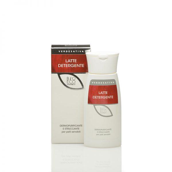 latte detergente struccante 600x600 - Latte Detergente Dermopurificante Struccante - 200ml - Verdesativa cura-del-viso, cosmesi-alla-canapa